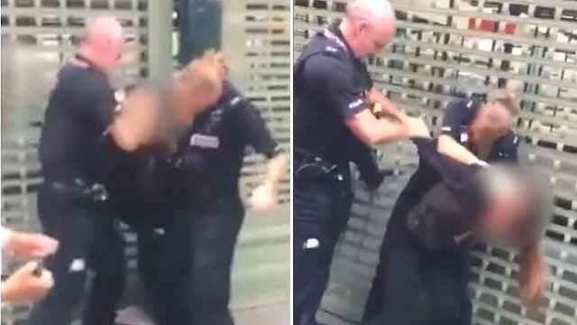 14岁女孩疑袭警,被警察暴力扇耳光