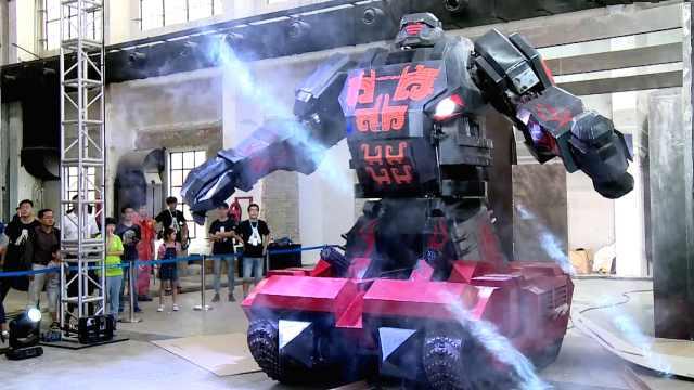 铁甲钢拳!中美巨型格斗机器人约架