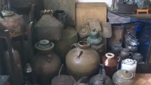 男子收藏千余件老物件,想开博物馆