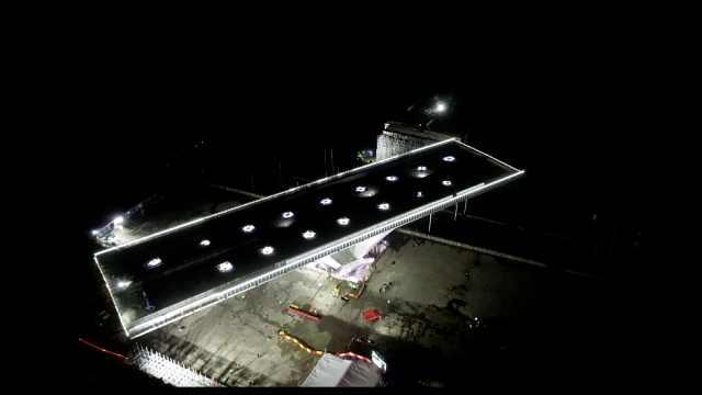 刷新纪录!国内最重高速桥成功转体