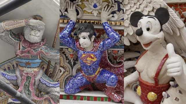 史上最萌寺庙!雕满皮卡丘米老鼠