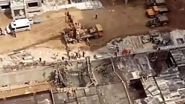 山东德州一工地施工意外,已救出4人