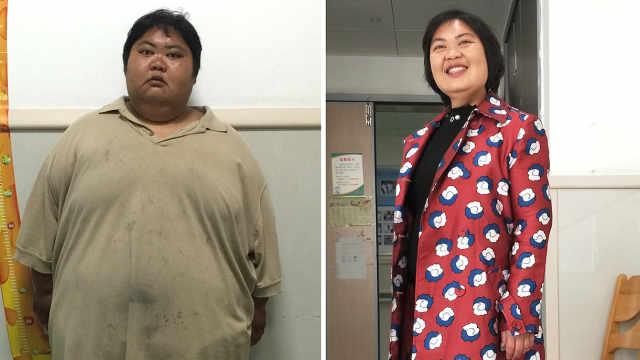 瘦了230斤,她终于和老公拍了结婚照