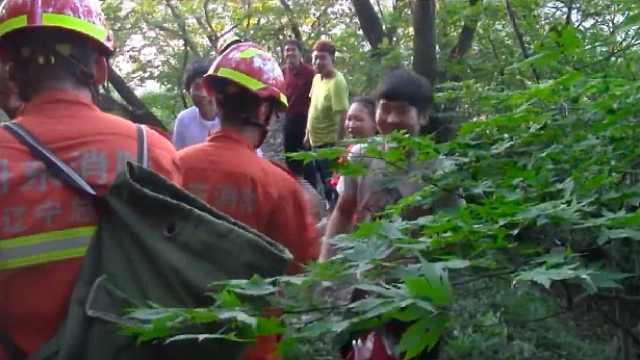 一家四口登山被困,消防火速救援