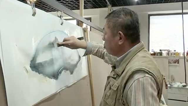 他用刀作画40年,希望有人传承下去