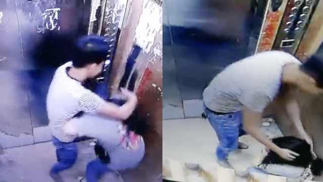 可恶!少女电梯内遭男子猥亵