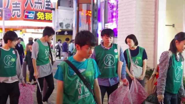 巴黎街头太脏乱,日本人帮忙捡垃圾