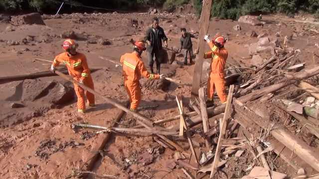 云南山洪民房被埋,1人死亡3人失联