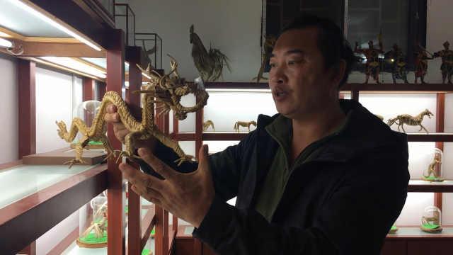 他传承棕编技艺30年, 编出动物世界