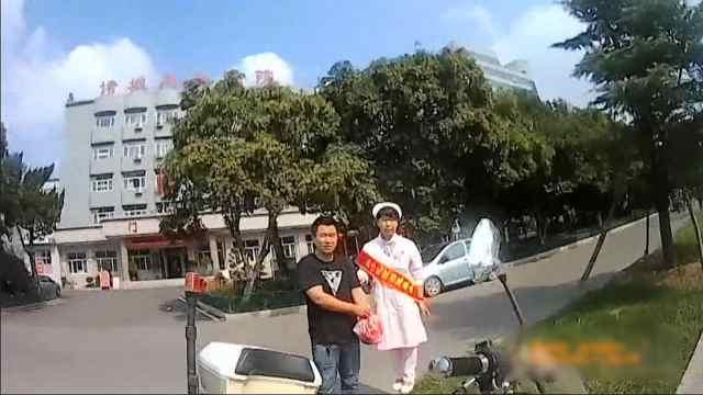 男子动脉割伤,交警拦出租车送医
