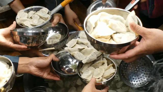 乡村办千人饺子宴,65岁老人免费吃