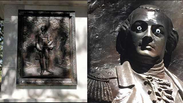 雕像被恶搞贴