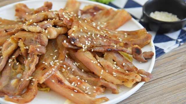 香煎五花肉,这样做的肉超级香!