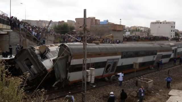 摩洛哥火车失控脱轨,至少6死86伤