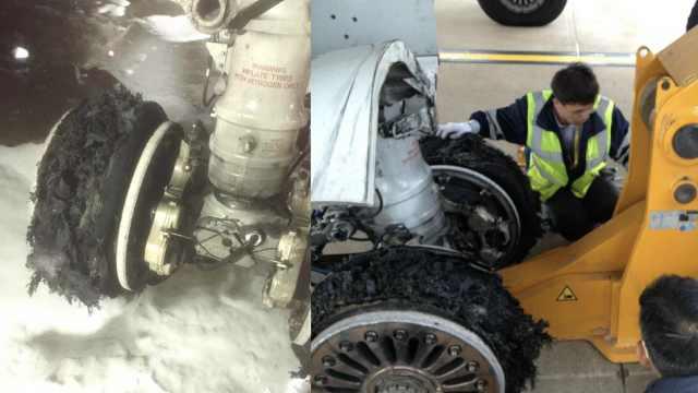 马航客机被曝起飞时爆胎,机身受损