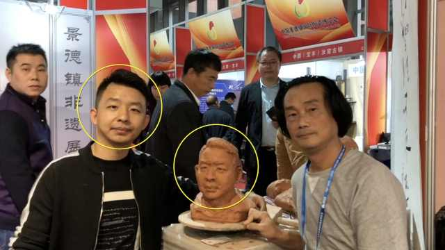 大叔即兴为人塑像,比3D打印还逼真
