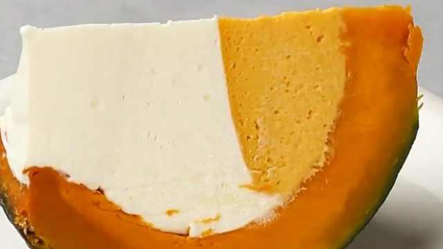创意美食:南瓜芝士蛋糕