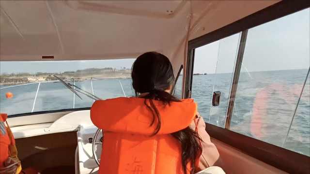 果然海洋大学!大学生上课学开游艇