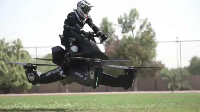 酷!迪拜警方配备星战同款飞行摩托
