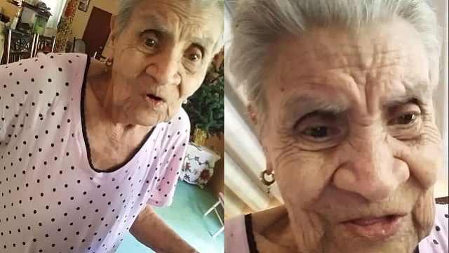 泪目!奶奶首次看到手机里的自己