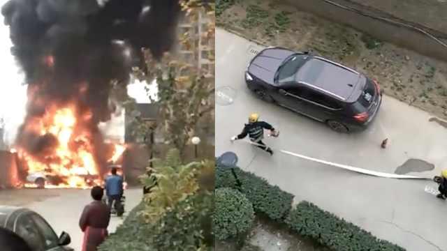 生命通道成停车位,消防车救急被拦