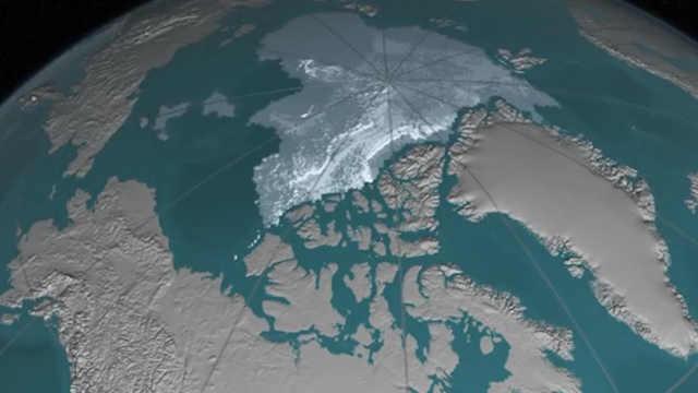 NASA动画展现北极冰面不断缩小