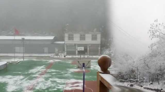 -4.4℃!重庆多地降雪秒变童话世界