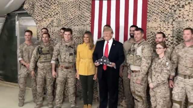 突然!川普任内首访海外美军基地