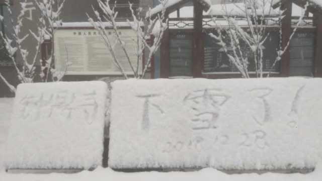 寒潮入川降雪,一群南方人激动坏了