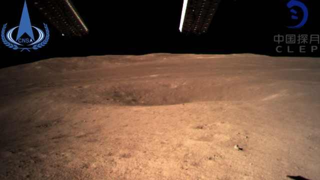 嫦娥4号传回世界首张月背特写!