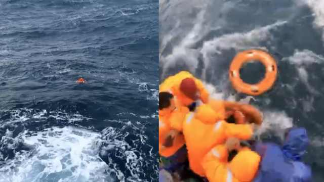 货船遇险沉没:已救5人,10人仍失联