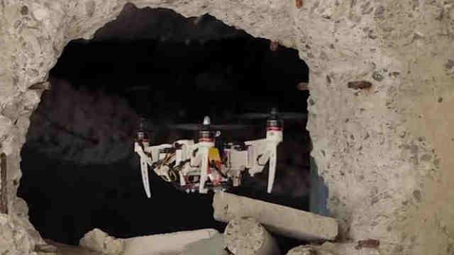 瑞士科研人员制造可变形无人机