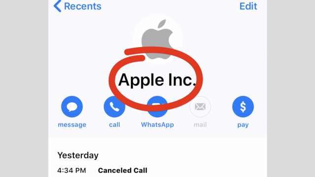 iPhone钓鱼诈骗:冒充苹果官方来电