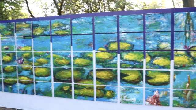 275个孩子用刮刀7天画出20米«睡莲»