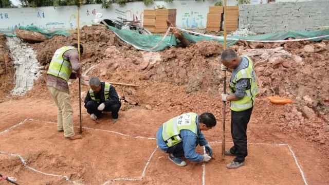 中大挖出古墓,疑历史上已被盗过