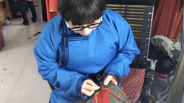 她手工缝蒙古袍10年:要一直做到老