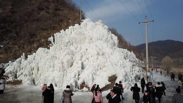 魔幻!村庄造冰瀑成网红,数万人打卡