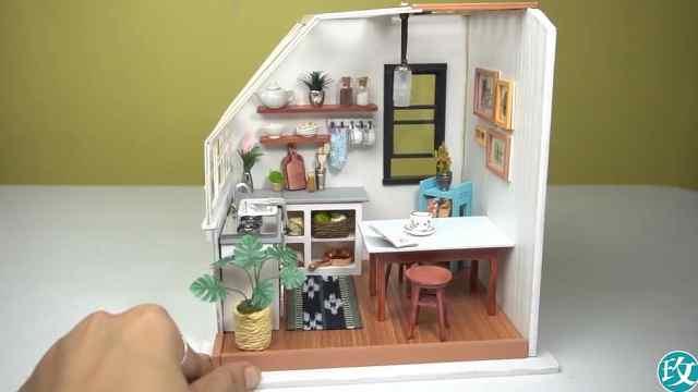 迷你娃娃屋,充满生活气息的小厨房