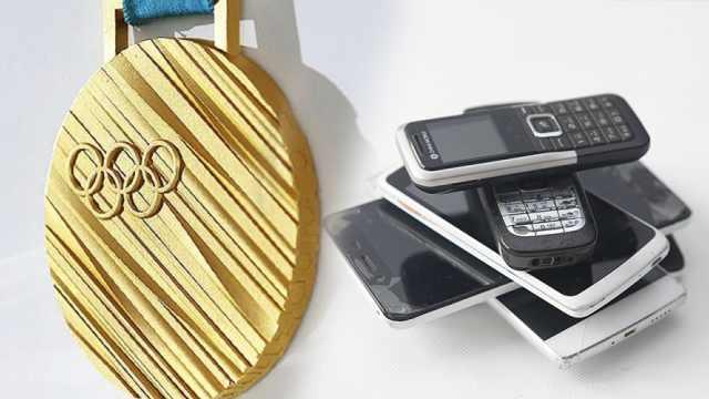 东京奖牌铸造:100部旧手机提3g黄金
