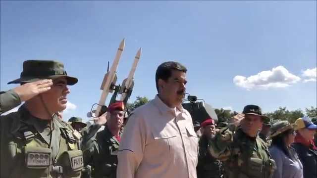 委内瑞拉大规模军演,马杜罗表决心