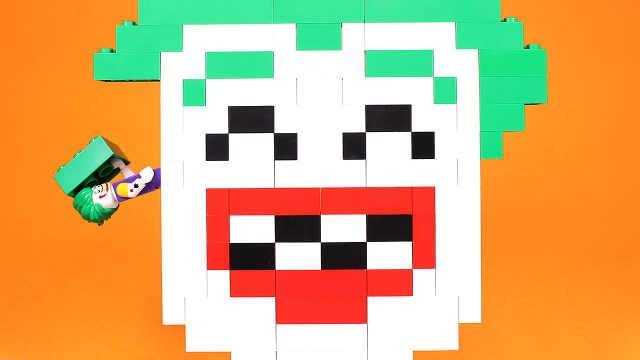 玩具小丑拼装创意马赛克头像