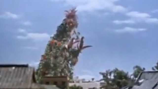 泰罗奥特曼遇上吸血植物怪兽!