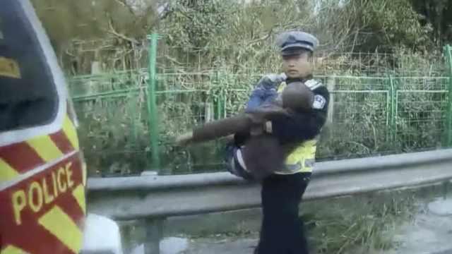 9岁男孩想爷爷,独自上高速走回家