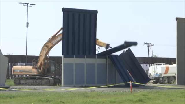 阻碍建新墙,特朗普8面样板墙被拆