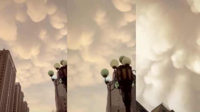 科幻片既视感!兰州上空惊现乳状云