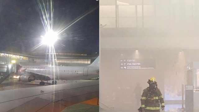 多伦多机场突发火灾,取消飞美航班