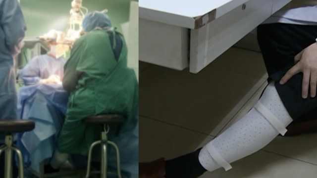 医生髌骨骨折,戴护具做9小时手术
