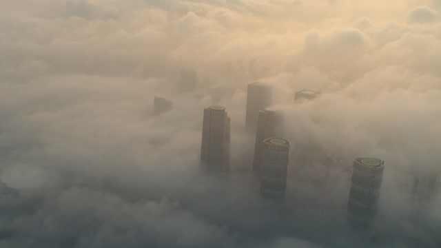 """厦门惊现平流雾景观,宛如""""仙境"""""""