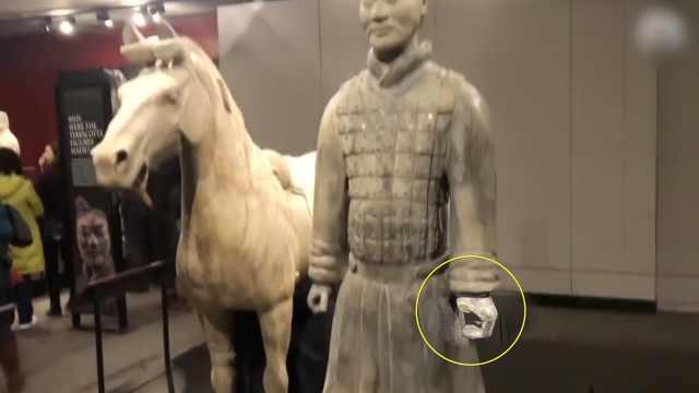 美国男掰断兵马俑手指,西安人谴责