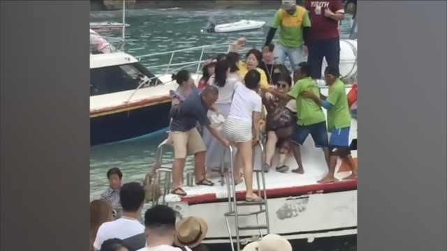 中国游客抢着下船,巴厘岛大打出手
